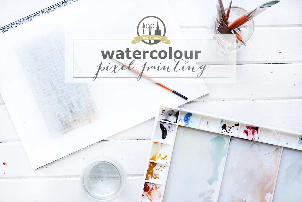 watercolour pixel painting | 27th and Olive