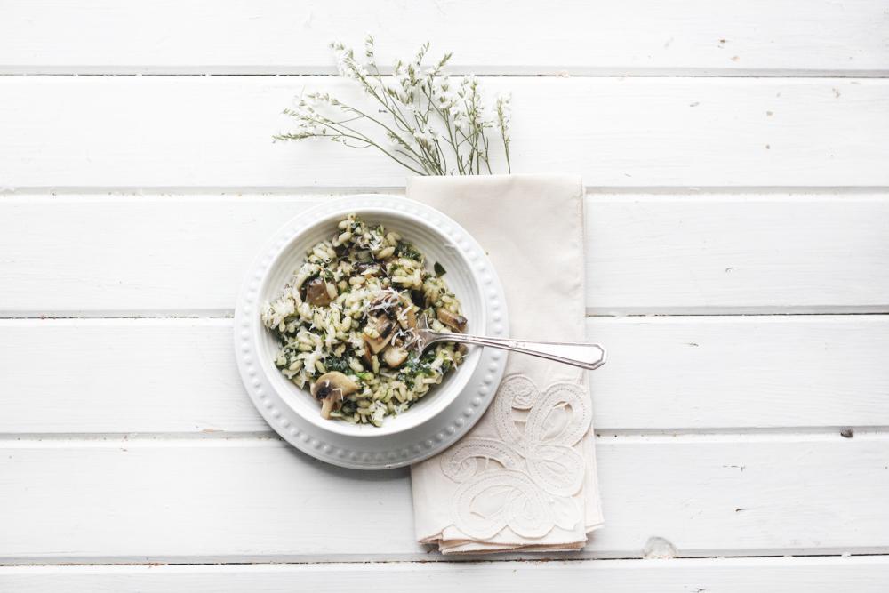 Mushroom Spinach Risotto